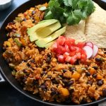 Rustic Mexican Rice and Beans Skillet Dinner
