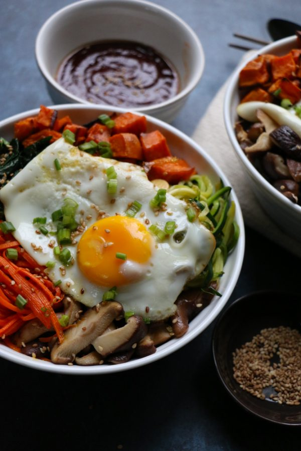 How To Make Classic Korean Bibimbap as a Seasonal Vegetarian Meal
