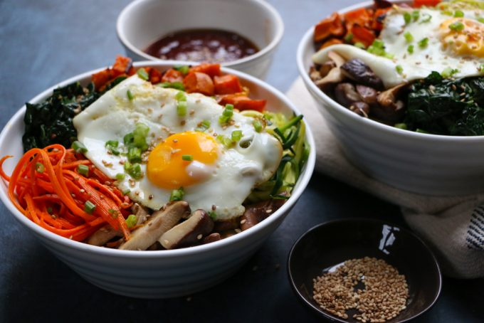 Fall Inspired Vegetarian Bibimbap Hip Foodie Mom
