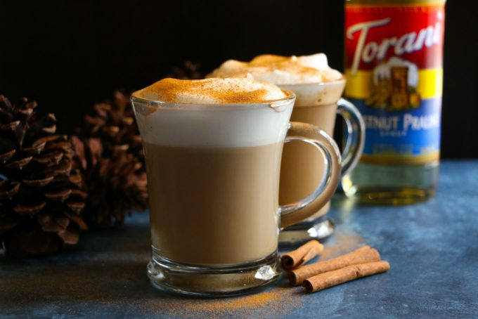 Chestnut Praline Latte! Ring in the season with this delicious and flavorful latte! Tastes like caramelized chestnuts with brown sugar pralines! So good!