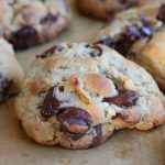 chocolate chip walnut cookies made with Levain cookie recipe