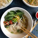 Pressure Cooker Beef Pho! Make one of your favorite Vietnamese rice noodle soup dishes in half the time! You've got to try this recipe! It's delicious!