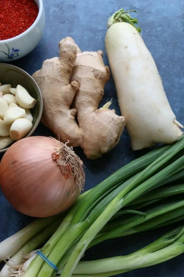 vegan kimchi ingredients