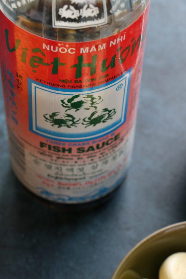 bottle of fish sauce
