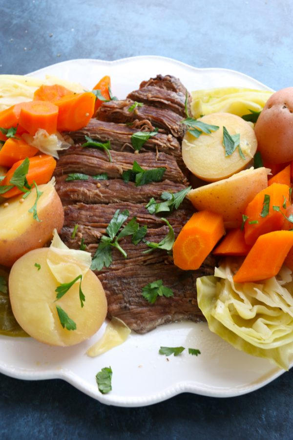 Instant Pot Corned Beef and Cabbage! The perfect recipe to make for St. Patrick's Day! And in half the time!