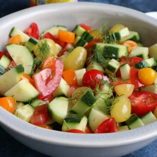 Super Simple Cucumber Tomato Salad
