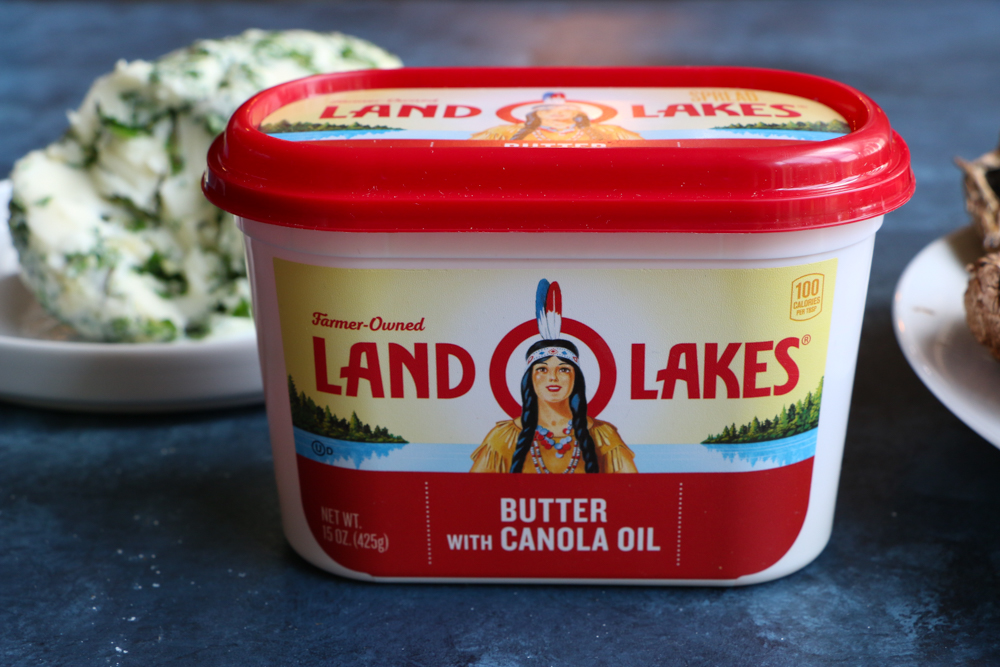 Herb Compound Butter Spread made with Land O Lakes® Butter with Canola Oil. It's so easy to make and delicious! This herb compound butter spread goes beautifully with grilled meats and vegetables!