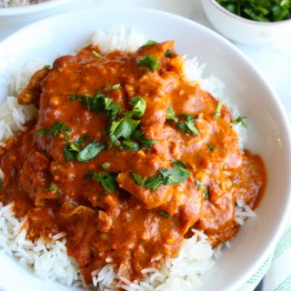 Instant Pot Butter Chicken! Butter chicken is chicken in a mildly spiced tomato sauce. Originating from India, this dish is not to be missed!