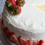 Vanilla Layer Cake with strawberries made with Land O Lakes® Butter with Canola Oil Spread! The perfect spring time treat!