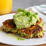 Zucchini Fritters with Avocado Crema + Video!