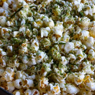 A popular, delicious and addicting Hawaiian popcorn snack, Hurricane Popcorn is popcorn with furikake and nori maki arare rice crackers.