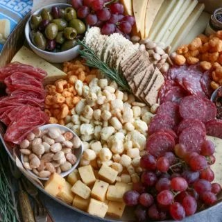 Ultimate Cheese Snack Board with Moon Cheese! Crunchy, delicious and made only from 100% cheese, you've got to try some!