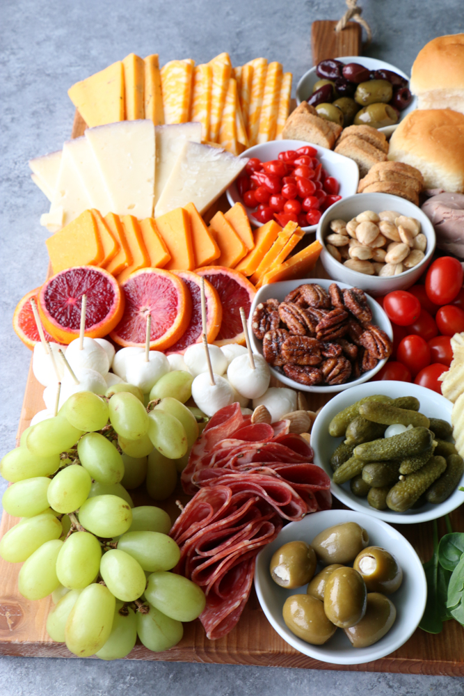 Super Bowl Charcuterie Board!! Having friends over to watch the big game? You need food! Build a charcuterie board for Super Bowl Sunday! What would you put on your board?