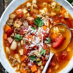 Instant Pot Pasta e Fagioli! Made with diced tomatoes and more, you won't believe how incredible this Pasta e Fagioli is!