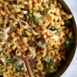Cavatappi with Bacon and Roasted Broccoli. Quick, flavorful and so easy to make! We hope you give this recipe a try!