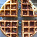 How To Make Zucchini Waffles! A delicious way to incorporate more veggies into your meal! Break out the waffle baker for this one! Enjoy!
