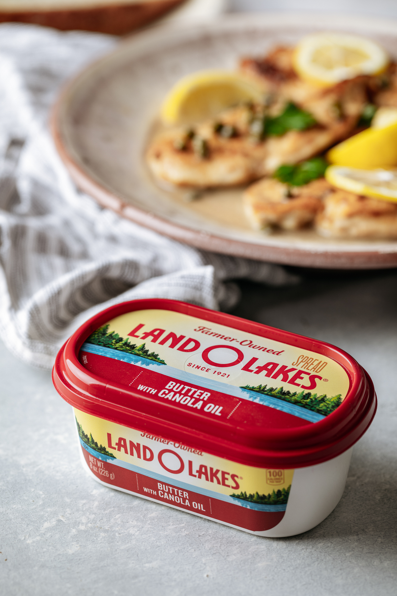 Chicken Piccata made with Land O Lakes® Butter with Canola Oil! The perfect recipe for a weeknight dinner, or for Mother's Day. Your family will love this!