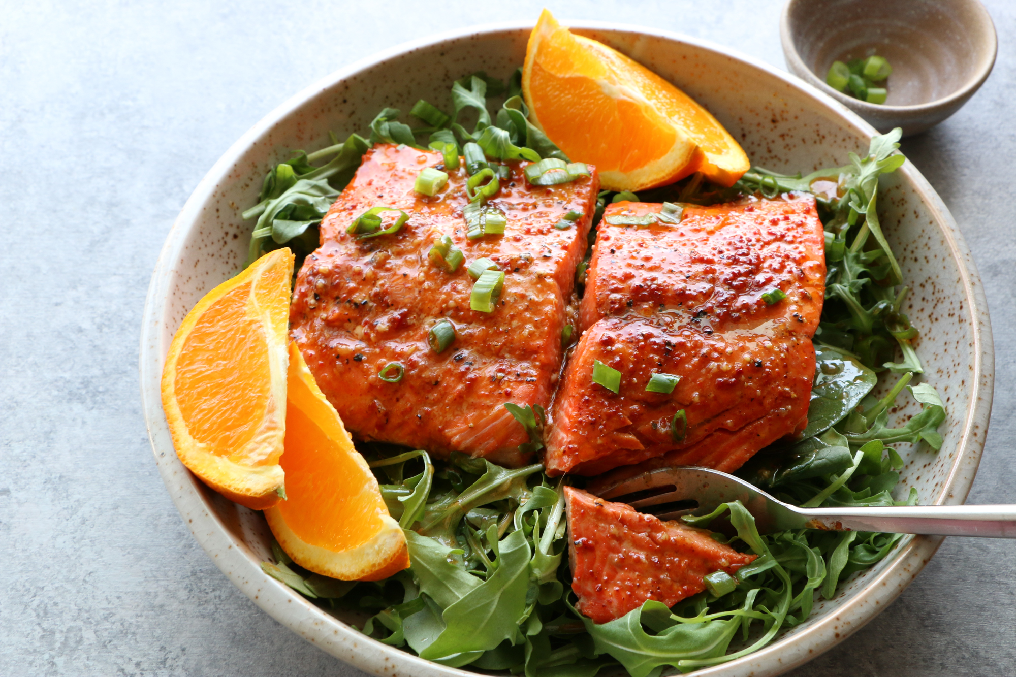 Salmon with Spicy Citrus Dressing