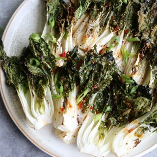 Bok Choy with Sweet Red Chili Sauce! This bok choy is bursting with loads of flavor and is guaranteed to be your new favorite side dish.