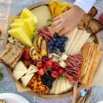 Summer Themed Cheese Board with Grilled Fruit