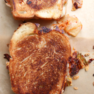 Kimchi Grilled Cheese Sandwich. If you've never experienced the combination of creamy, salty cheese with spicy kimchi, you haven't lived.