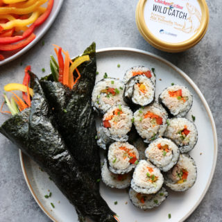 Ahi Yellowfin Tuna Rolls and Hand Rolls made with Chicken of the Sea's new Wild Catch Premium Tuna. So easy to make and delicious!