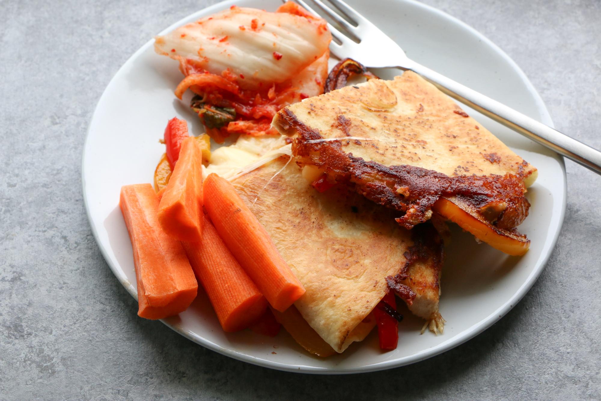 quesadilla with kimchi