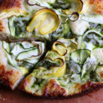Zucchini Ribbon Pizza. So incredibly delicious! I promise you, if you like zucchini and summer squash, you will love this pizza.
