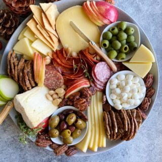 Fall Inspired Cheese Board! Whether you are making a small cheese plate or having a small gathering at home, a cheese plate is the way to go!