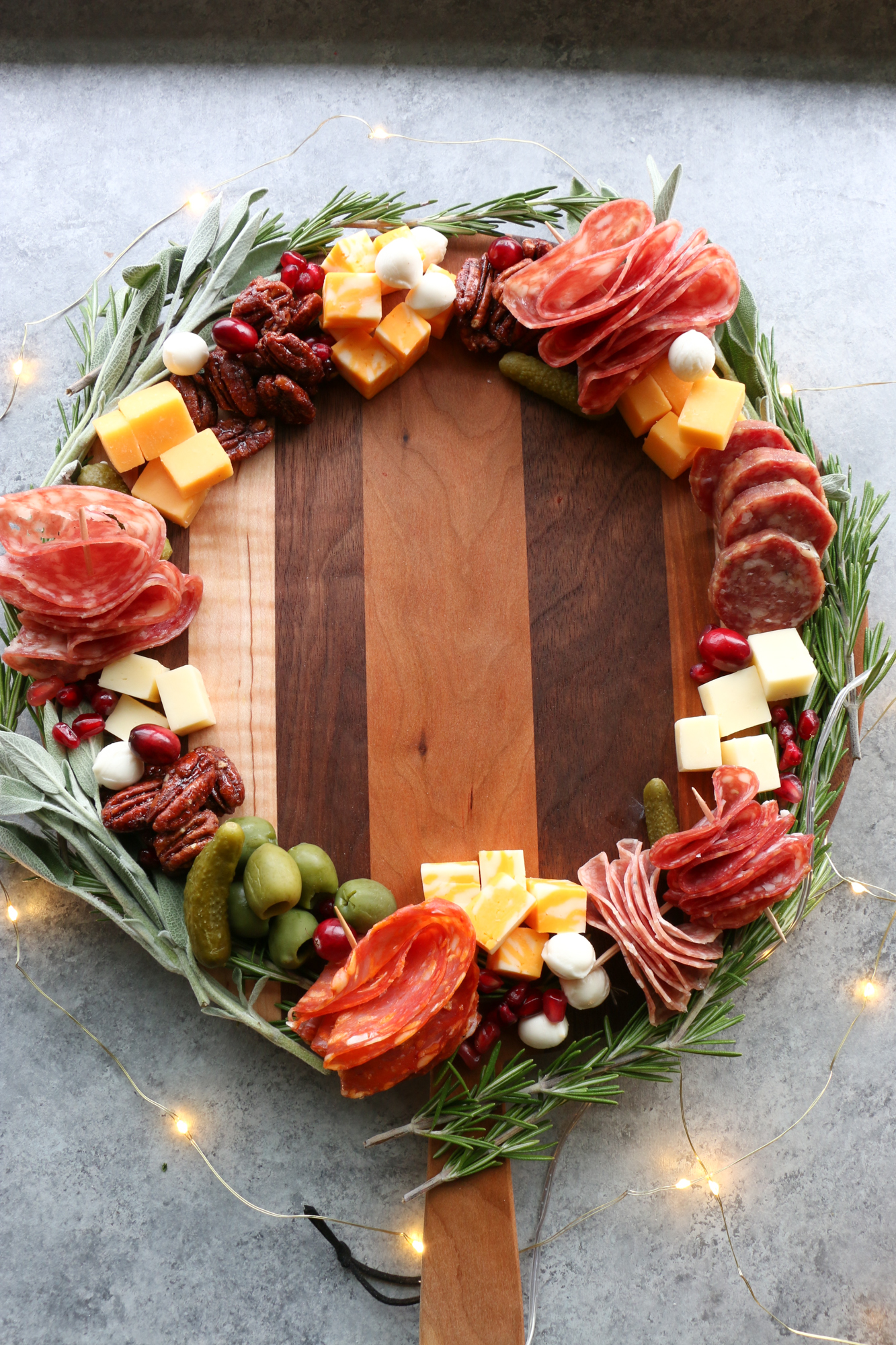 wreath cheese board