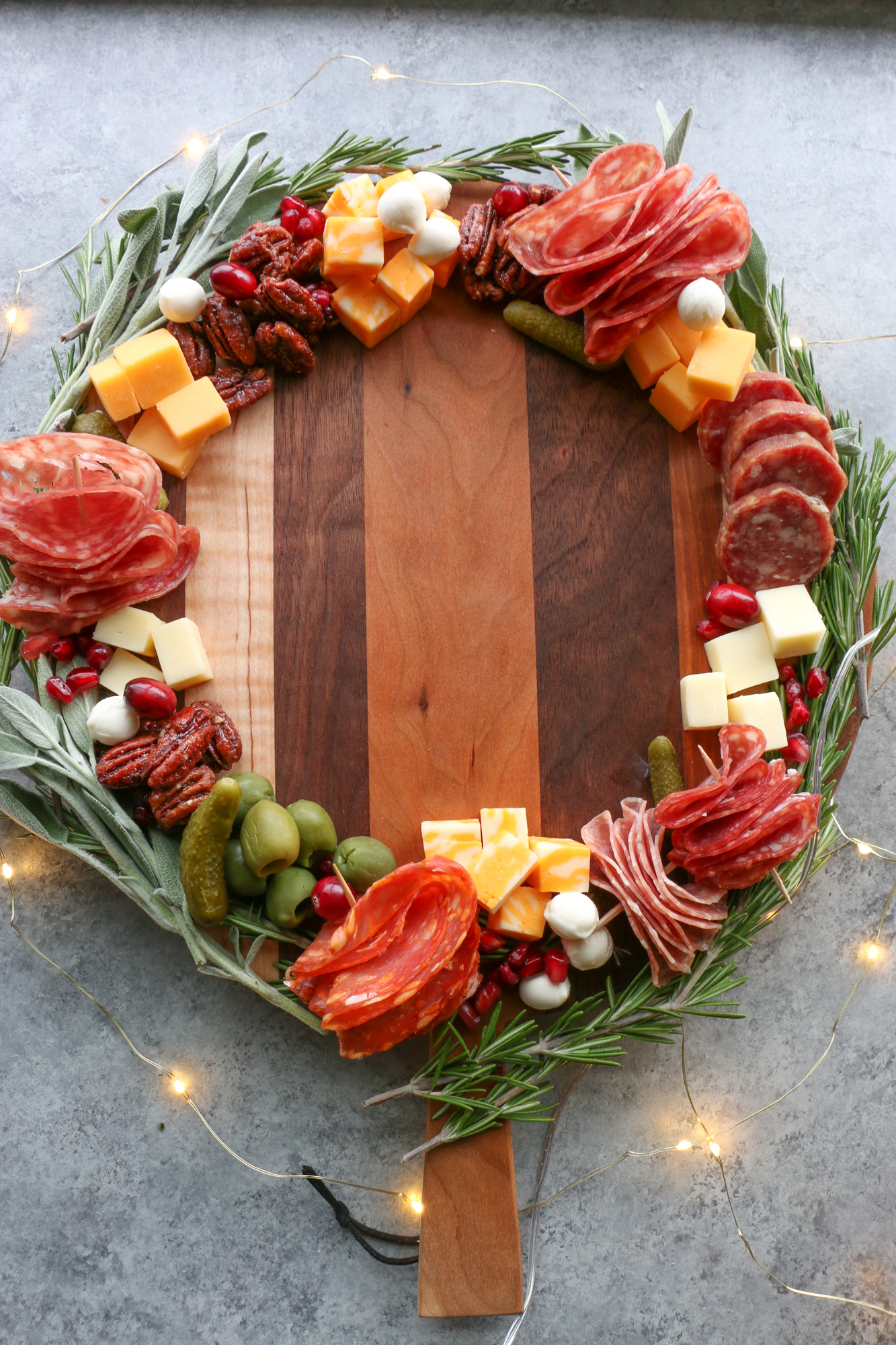 holiday wreath board