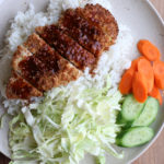 Air Fryer Chicken Katsu using no oil at all! Crispy, flavorful and so delicious! If you're looking for ways to eat healthier this January, I hope you check out the recipe!