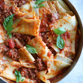Broken Lasagna Pasta with Meat Sauce! A super easy way to enjoy lasagna without all the layering. If you have teens in the house, they can make this! Enjoy!