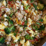 Clean Out The Fridge Fried Rice!! This is my family's favorite fried rice! This is a great way to use up leftover vegetables and protein! Hope you try it!