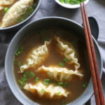 Super Easy Dumpling Soup! Delicious, flavorful and you can just use frozen dumplings to save time! This is so good!