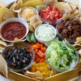 Build Your Own Taco Board! Just a fun way to spice up Taco Tuesdays! Serve everything on a board and let your family do the work.