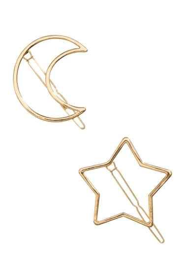 broches hmxcoachella moon star gold