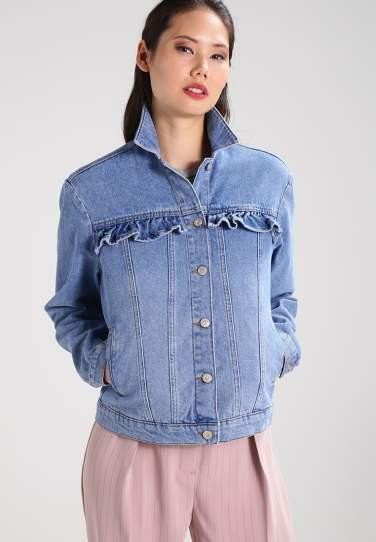 jeans jacket ruffles new look zalando