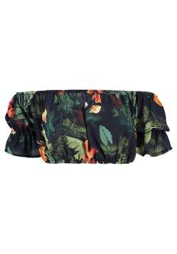 missguided tropical crop top