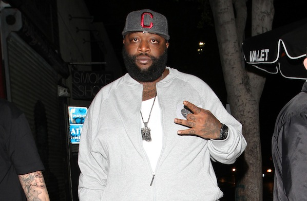 Looking hip! Rapper Rick Ross arrives in his regular cool style for an evening at Playhouse nightclub in Hollywood
