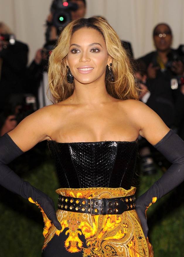 Beyonce at The Costume Institute gala for the 'Punk: Chaos to Couture' exhibition at the Metropolitan Museum Of Art in New York City