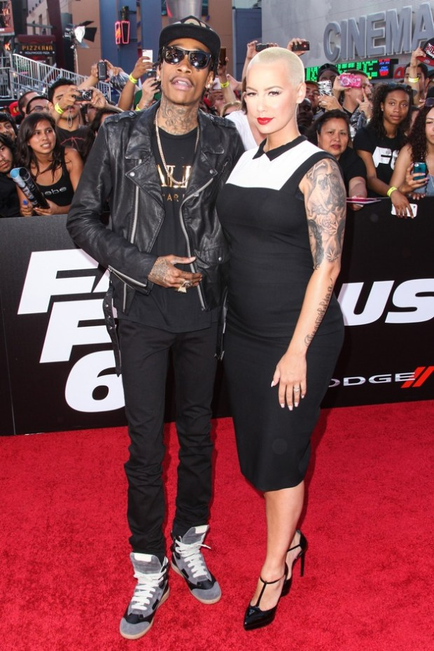 Wiz Khalifa and Amber Rose seen arriving at the Premiere Of Universal Pictures' 'Fast & Furious 6' in Los Angeles