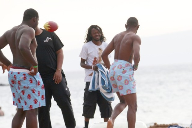 Tyler, the Creator, hangs out with members from the 'Odd Future' musical group in Hawaii
