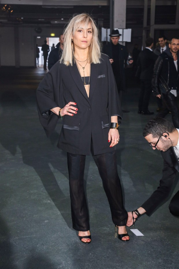"Noomi Rapace seen at the ""Givenchy"" fashion show during the Paris Fashion Week in Paris"