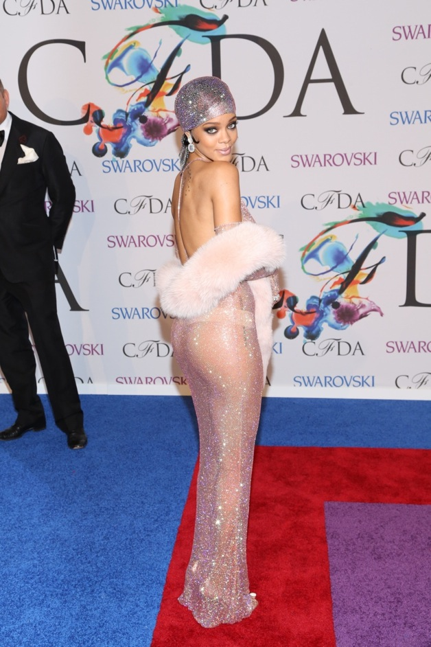 Rihanna attends the 2014 CFDA fashion awards at Alice Tully Hall, Lincoln Center in New York