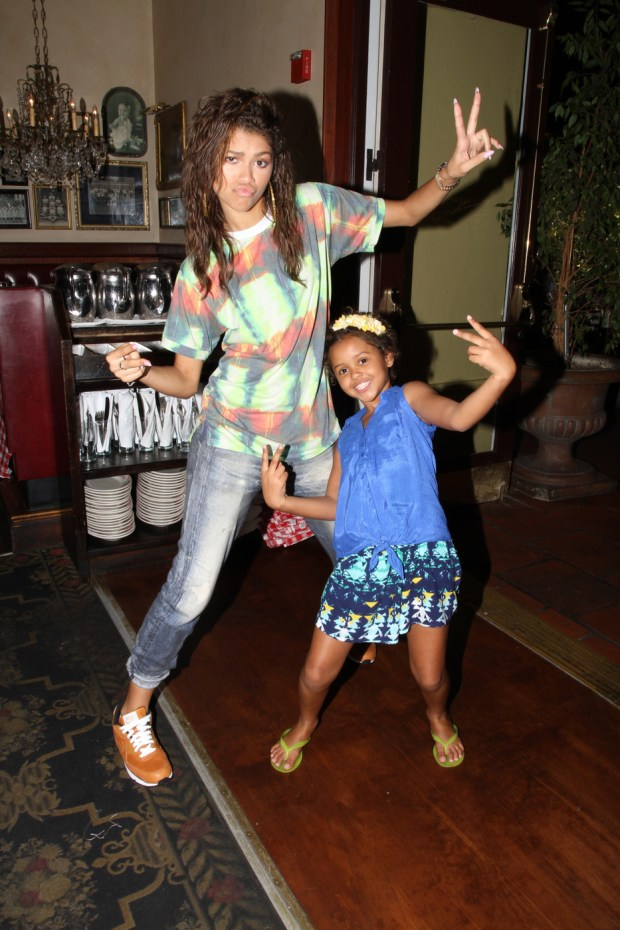 EXCLUSIVE: Zendaya spends a day with her little fan Sophia through Make-A-Wish Foundation in Los Angeles