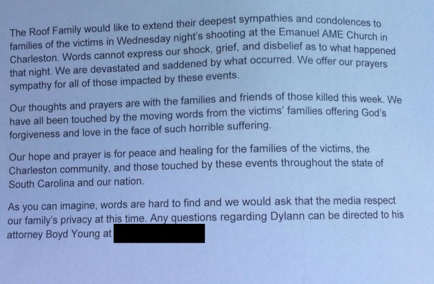 Dylann Roof S Family Speaks We Are Devastated And