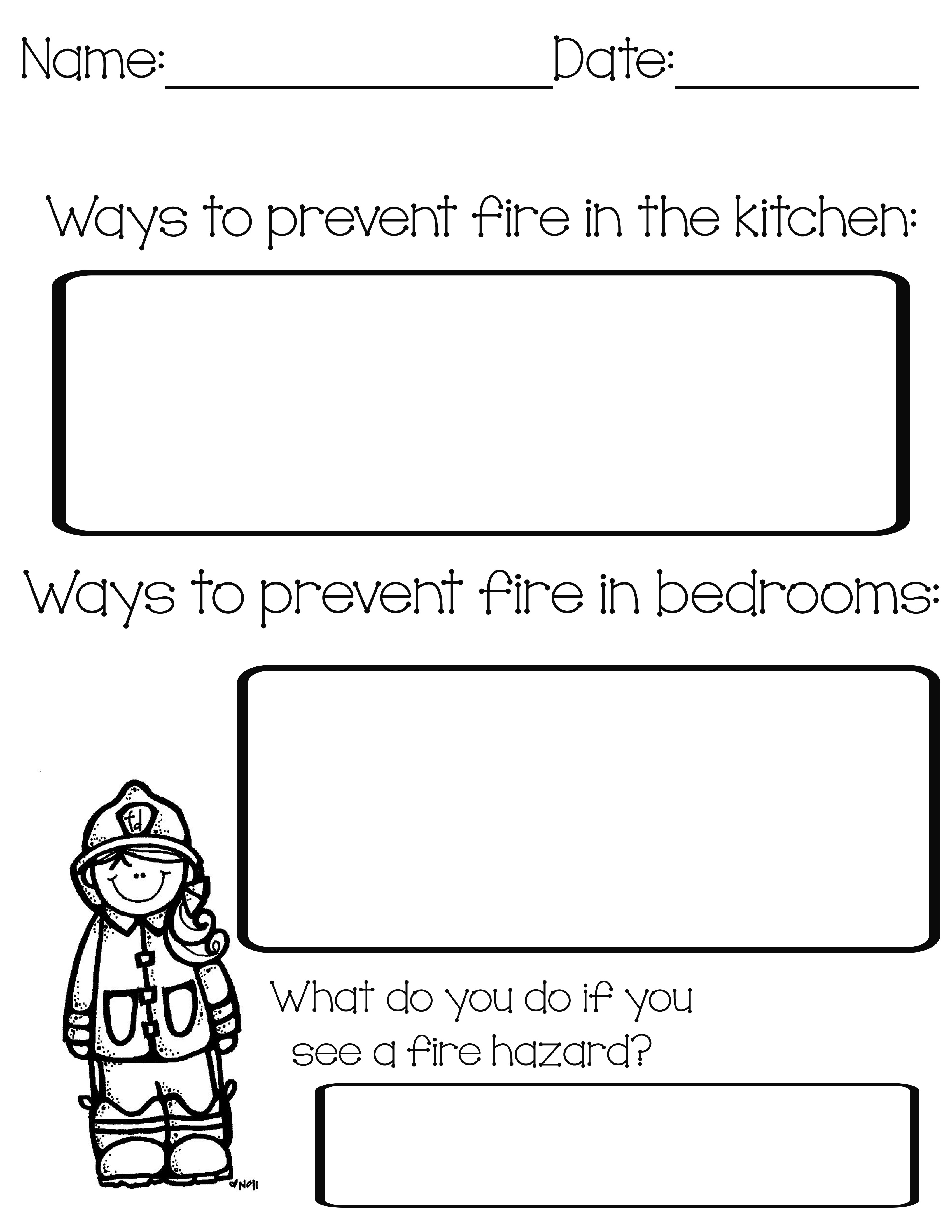 Free Fire Safety Printables