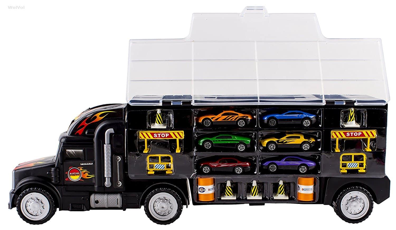 LIGHTNING DEAL ALERT WolVol Transport Car Carrier Truck Toy 25 Hip Homeschool Moms