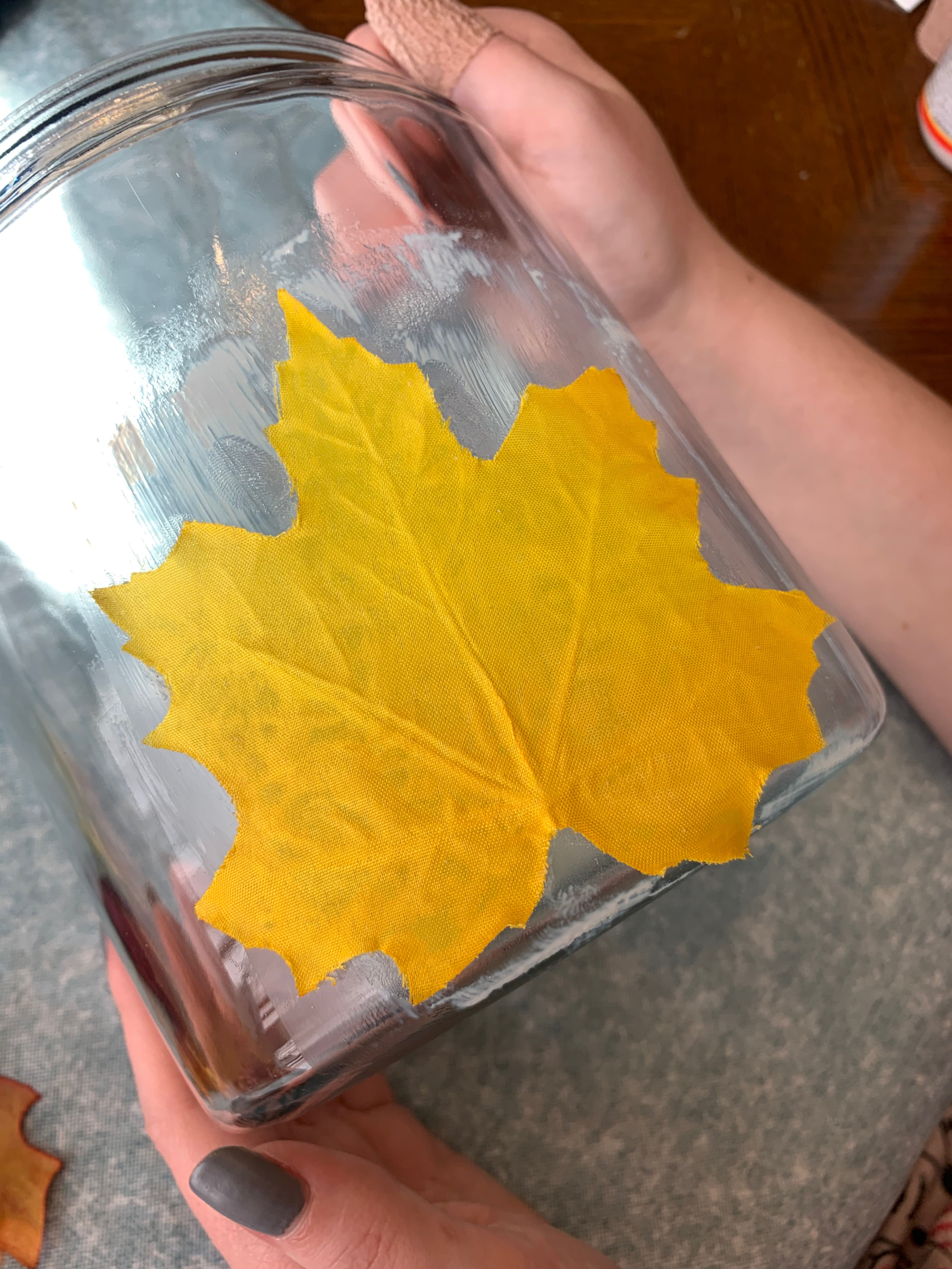 directions for making a fall lantern